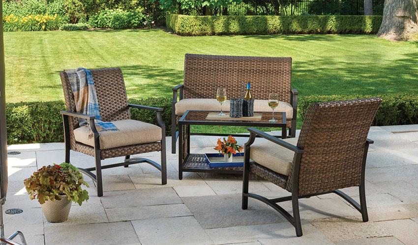 Hyde Park Collection - Hyde Park Collection Outdoor Furniture Deck Center Bridgewater