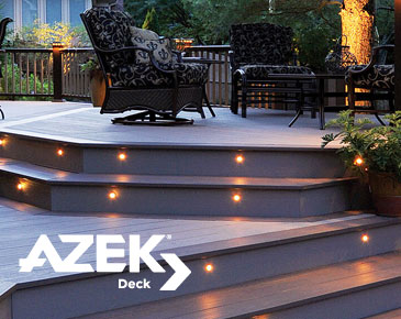 Azek Lighting Outdoor Deck Center Bridgewater